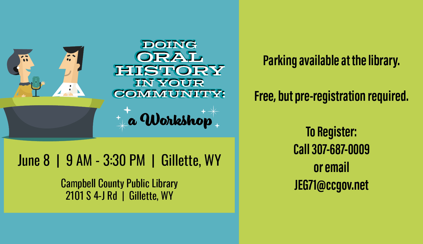 Oral History In Your Community - A Workshop